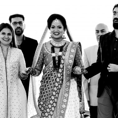 Hindu wedding bride entrance