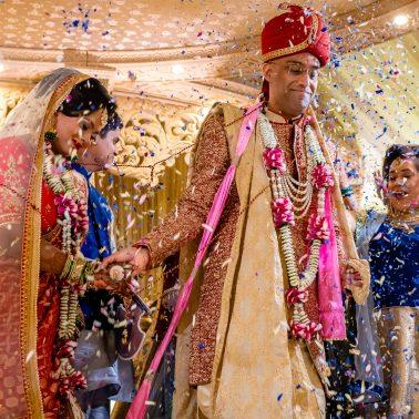 Pheras at Hindu wedding
