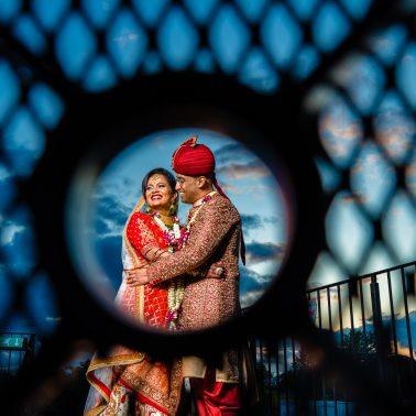 Creative portraits at Hindu wedding