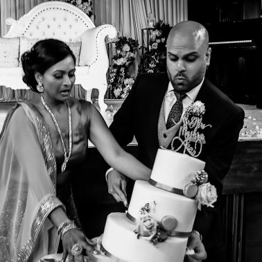 Cake cut, asian wedding photography by Olivine Studios