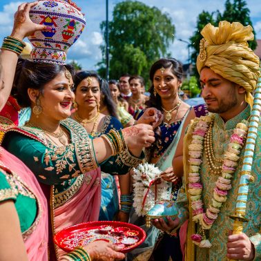 Hindu wedding ceremony at Willesden temple