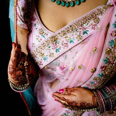 Hindu wedding brides getting ready
