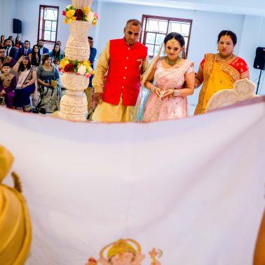 Hindu wedding ay Willesden temple